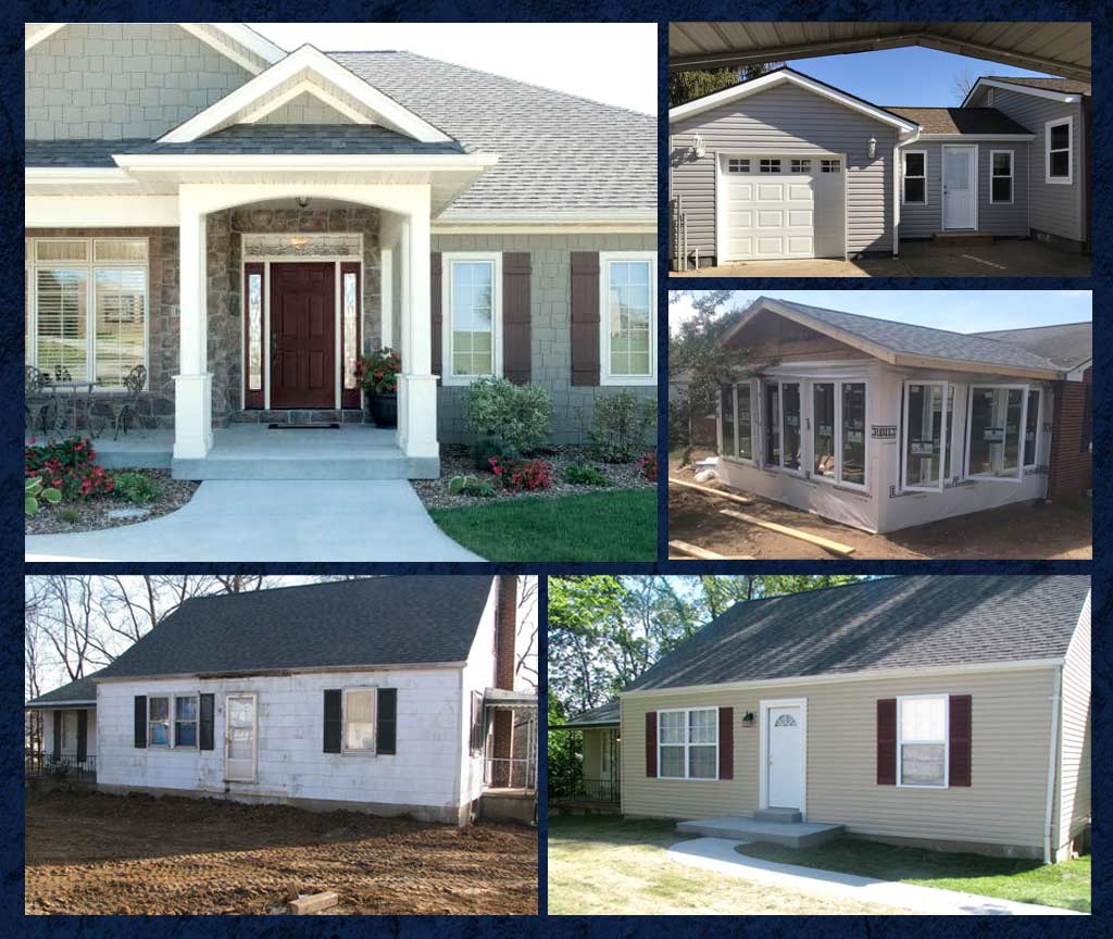 Exterior remodeling example